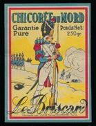 """Ancienne  étiquette Chicorée  Du Nord Garantie Pure  Le Briscard  Vilain Freres Bourbourg Nord 59  """"soldat"""" - Fruits Et Légumes"""
