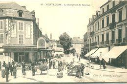 03 - MONTLUCON - LES ATTELAGES ET COMMERCES BRD DE COURTAIS EN 1915- A66 - Montlucon