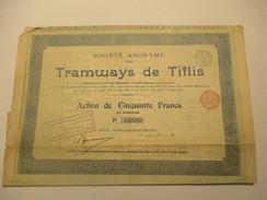 Tramways De Tiflis - Action De 50 Francs - Transports