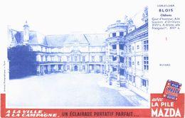 Vieux Papiers - Buvard - Electricité - Pil Mazda - 3 Pubs Concours + Dubout N° 7 + Série Châteaux N°1, 2, 3, 4 Et 6 - Electricity & Gas