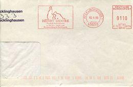 28491 Germany  Red Meter/freistempel/ema/ 1999 Recklinghausen, Henry Moore, Ruhrfestspiele, - [7] West-Duitsland