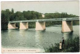 CPA Seine Port, Le Pont De Ste Assise (pk41062) - France