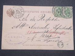 RUSSIE - Carte Commerciale De Varsovie Pour La France En 1898 - L 10005 - 1857-1916 Empire