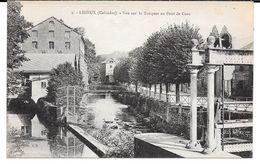 Cpa Lisieux - Vue Sur La Touques Au Pont De Caen . - Lisieux