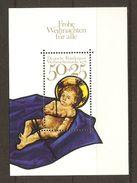 Allemagne Fédérale - 1978 - Noël - Vitrail Frauenkirche à Munich - Bloc 16 MNH - Christmas
