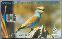 Telefoonkaart. Telecomcard - Kingfisher. Gamtel Keeps You In Touch - Anytime, Anyplace. GAMTEL - Banjul - Vogels