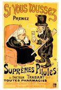 """Carte Postale Célebrité Et Publicité  La Reine """"Victoria Et Paul Krüger""""  (Format 15 X 10.5) Pilules Suprèmes - Pubblicitari"""