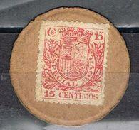 Sello Moneda Republica Española 15 Cts Timbre Movil - 1931-Hoy: 2ª República - ... Juan Carlos I