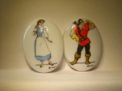 2 Fèves Plates Disney.  Fèves, Fève Ancienne.  (TPL2.2) - Disney