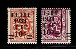 Belgique YT N° 375 Et 375A Neufs ** MNH. TB. A Saisir! - Unused Stamps