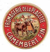 Et. Fromagerie De La Placette - Camembert Fin (femme Avec Vache - Coq) - Fromage