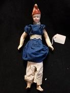 Jouet Poupée Tête Porcelaine Meunier De Moulin Meunerie Bonnet Rouge - Dolls