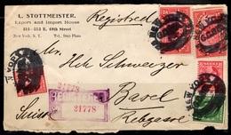 Etats-Unis Belle Lettre Recommandée De 1913 Pour La Suisse. Affranchissement Composé. B/TB. A Saisir! - United States