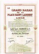 Action Ancienne - Le Grand Bazar De La Place Saint-Lambert - Liège - Titre De 1950 - Textile