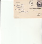 Carte Commande  Avec Cachet  Ferroviaire SARREGUEMINES -    RECH - Railway Post