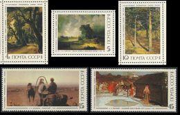Soviet Unie CCCP Russia 1986 Mi 5615 /9 YT 5316 /0 ** Russian Paintings / Gemälde - Tretyakov Gallery, Moscow - 1923-1991 USSR