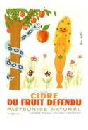 """Carte Postale Célebrité Et Publicité Affiche """"Alain Gauthier"""" Vers 1958 (Format 15 X 10.5) Cidre - Pubblicitari"""