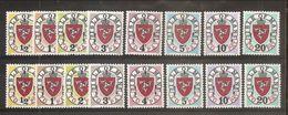 1973 Isola Di Man SEGNATASSE POSTAGE DUE 2 Serie Di 8v.  (1/8 E 9/16 1° E 2° Tiratura) MNH** - Isola Di Man