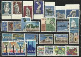 1970 Grecia Greece 11 Serie Mi.1023-28, 1040-42, 1045-61 MNH** - Grecia