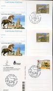 28501 Italia, 3 Differents Items Leonardo Da Vinci,2001+2016,special Postmarks And Stationery,horse Bronze Of Leonardo - Art