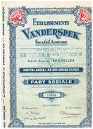Action Ancienne - Etablissements Vanderspek - - Textile