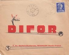 LETTRE. 5.7.58.  PERLÉ RECETTE-DISTRIBUTION. CREUSE FLAYAT.  MULLER 20c - 1921-1960: Modern Period
