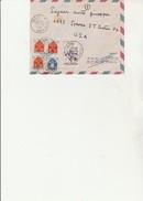 LETTRE  AFFRANCHIE N° 1005 + 1047 X 3 + 1074 - OBLITERE CAD  FONTAINE - ISERE 1957 - Handstempel