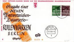 """WB Schmuck-FDC  Freimarken """"Brandenburger Tor"""", Mi. Zdr. W 41 ETST BERLIN 12  13.12.1966 - [5] Berlin"""