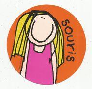 Cp Ronde , Diam. 15 Cms ,Round Postcard , 1997 , Santoro Graphics , Bang On The Door , 2 Scans,  R185 SOURIS - Other Illustrators