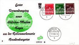 """WB Schmuck-FDC  Freimarken """"Brandenburger Tor"""", Mi. Zdr. W 43 ETST BERLIN 12  13.12.1966 - [5] Berlin"""