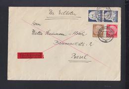 Dt. Reich Expres Brief 1935 Freiburg Nach Basel - Briefe U. Dokumente