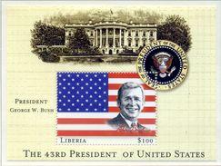 LIBERIA 2000. Block, The 43RD President Of United States, George W. Bush BLOC NEUF ** SANS CHARNIERE Ref 950 - Liberia