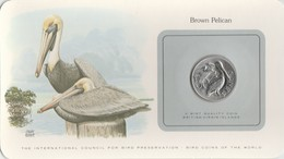 BIRD COINS OF THE WORLD - BRITISH VIRGIN ISLANDS - 50C - BROWN PELICAN -                            TDA20A - Iles Vièrges Britanniques
