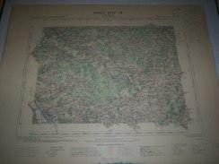 CARTE GEOGRAPHIQUE _ G - Format  45 X 57  De  CHER  LOIRET NIEVRE  YONNE_Feuille _SAINT  FARGEAU_XVIII  18 ) En 1903 - Carte Geographique