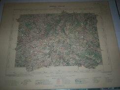 CARTE GEOGRAPHIQUE _ G - Format  45 X 57  De CANTAL  HAUTE  LOIRE_Feuille SAINT  FLOUR_XVIII  28 ) En 1908 - Geographische Kaarten