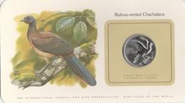 BIRD COINS OF THE WORLD - TRINIDAD ET TOAGO - ONE DOLLAR - 1980 - RUFOUS - VENTED CHACHALACA          -  TDA20A - Trinité & Tobago