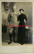 Grand CDV-(CAB) Soldat Du 306e Régiment-galons Présence Au Front-médailles-en Couple-photo Sarrazin à Poissy - Guerre, Militaire