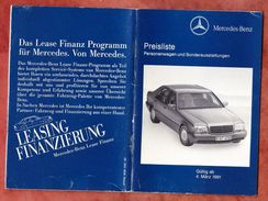 Preisliste, Mercedes-Benz, 1991 (43744) - Historische Dokumente