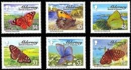 Alderney Aurigny 2008 Yvertn° 321-326  Micheln° 320-325 *** MNH Cote 12 Euro Faune Papillons Vlinders - Alderney