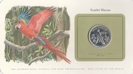 BIRD COINS OF THE WORLD - BELIZE - 1 DOLLAR - 1980 - SCARLET MACAW         -  TDA20A - Bahamas