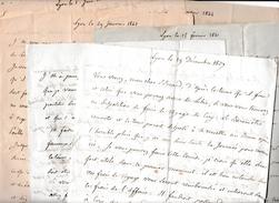 1837/48 -Lyon - 16 Grandes Lettres Relatives Au Domaine De CIRY, Cultures, Rendements, Fourrages, Accident De Voiture - Documents Historiques