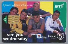GB.- Telefoonkaart. BT Phonecard. Special Edition. See You Wednesday. Pepsi Chart. - Reclame