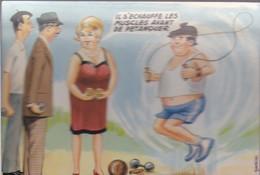 """Illustrateurs - Signés > Carrière, Louis   """" Il S'echauffe Les Muscles Avant De Petanquer  Photochrom 504 13 - Carrière, Louis"""