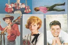 Z 1987   5 CARTES CHANTEURS ANNEE 60  OFFERTE PAR CORVISART   VARTAN SHEILA DISTEL LONG CHIS  LES CHAMPIONS - Artistes