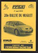 Sport Automobile Rallye / Programme Guide Plan 20éme Rallye Du Muguet Bernay 2003 - Racing