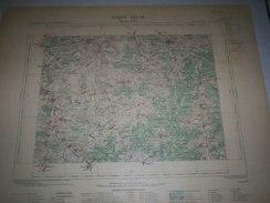 CARTE GEOGRAPHIQUE  G - Format  45 X 57 De AUBE_COTE DOR_MARNE_ Feuille  BAR Sur AUBE_XXI  16 ) En1898 - Geographische Kaarten