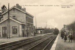 CPA - PORT-sur-SAONE (70) - Aspect Du Train Arrivant En Gare Au Début Du Siècle - France