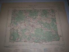 CARTE GEOGRAPHIQUE  G - Format  45 X 57 De AUBE_COTE DOR_HAUTE MARNE_ Feuille  CHATILLON Sur SEINE_XXI  17 ) En1902 - Cartes Géographiques