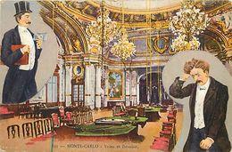 - Dpts Div.-ref-VV325- Monaco - Monte Carlo - Casino - Salle De Jeux Et Encart Illustre - Veine Et Deveine - - Monte-Carlo