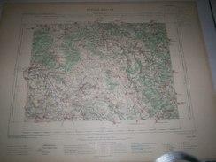 CARTE GEOGRAPHIQUE  G - Format  45 X 57 De COTE DOR_ Feuille  MONTBARD_XXI  18 ) En1890 - Geographische Kaarten